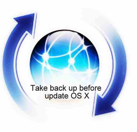 this is guide for Take back up before update OS X in Mac