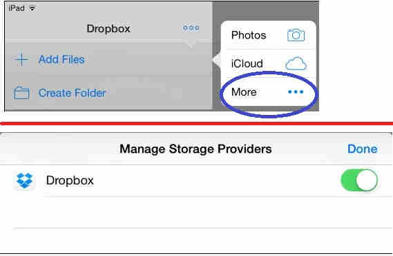 tap on more to add more cloud extension.