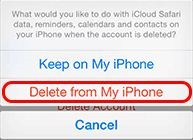 using this option you can delete data only.