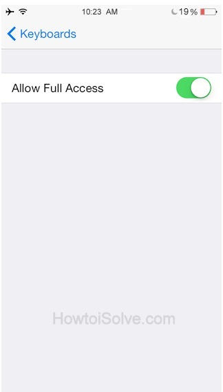enable allow full access from Keyboard settings.