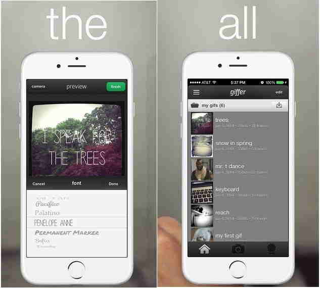 GIF maker app for iPhone for customization
