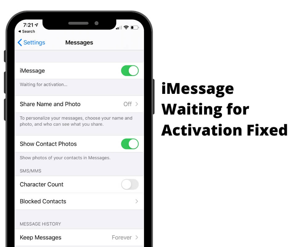 iMessage Waiting for Activation fixed on iPhone