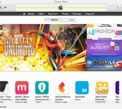 iTunes store on your Mac/PC