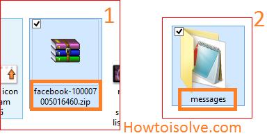 the .Zip file folder and Messages Folder