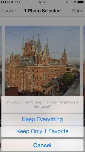 how to delete burst photos on iphone 6