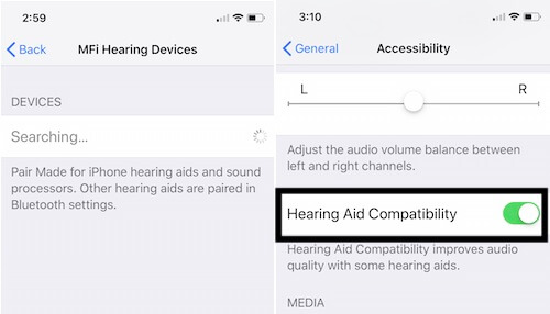 2 Find Hearing Aids devices and Enable Hearing Aid Compatibility on iPhone (1)