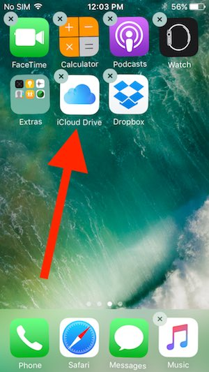 5 Delete iCloud drive app from iPhone