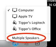 From iTunes select AirPlay supported Device where we want to stream