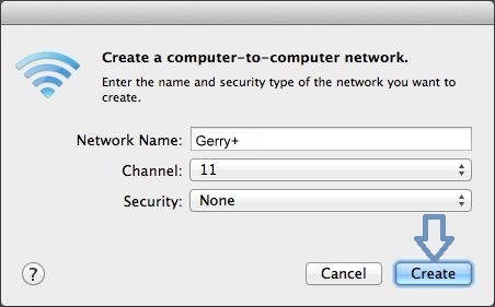 Set Mac password for sharing