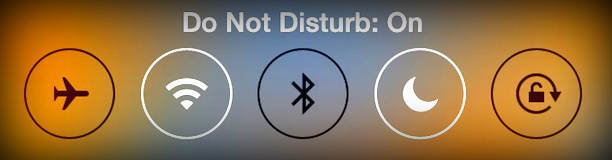you can Turn on or off Do not disturb mode on your iPhone and iPad
