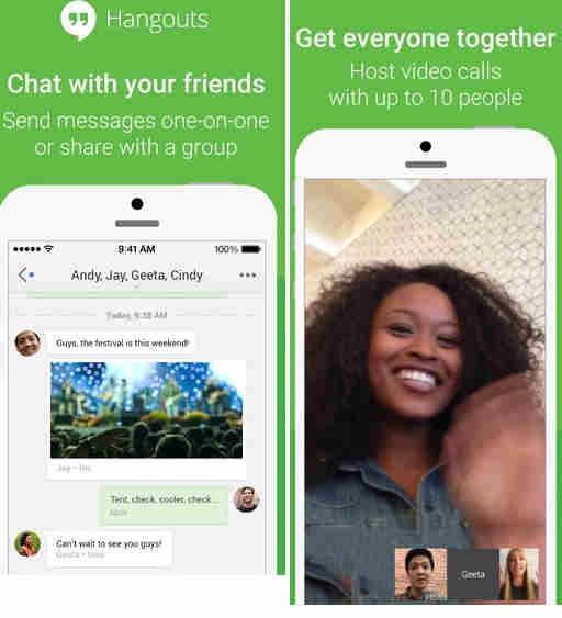 Hangouts app for video calling