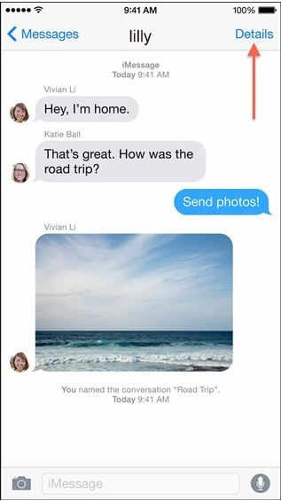 Share location in iOS 8 Message App, iPhone