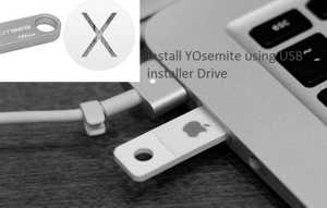 OS X Yosemite USB installer Drive for Mac setup installation