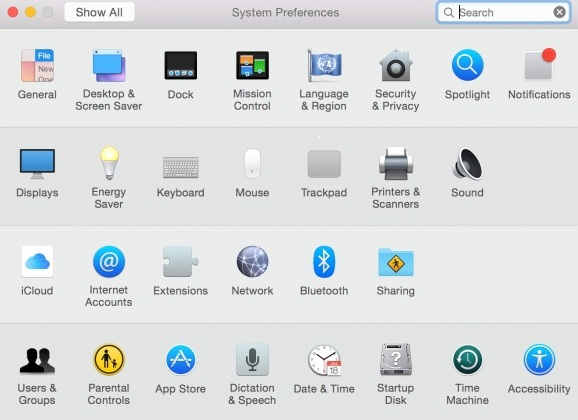 Select users to Share particular user account in Yosemite