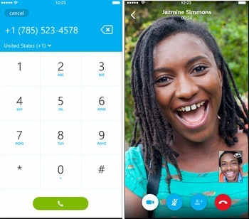 Skype app is a free and premium support - Video calling apps for iPhone