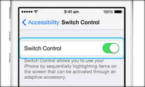 turn on toggled of Switch controlon iPod touch