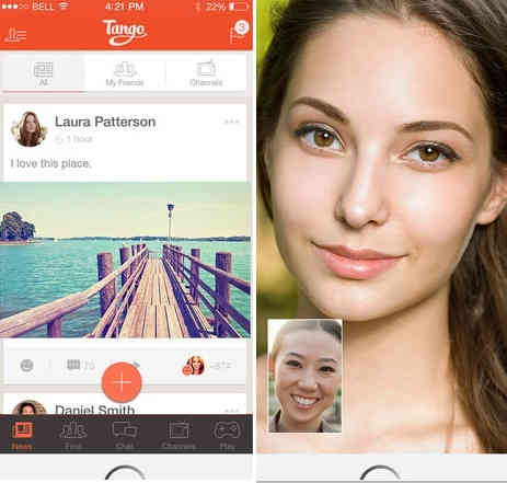 Tango app works for group video calling
