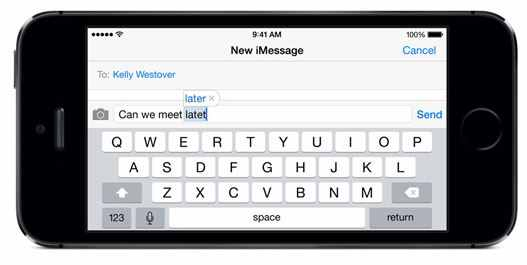 Use in Text typing using VoiceOver enabled iPhone and iPad