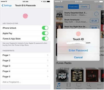 Set Apple Touch ID setup in iPhone for Apple Pay, iTunes, in iPhone, iPad