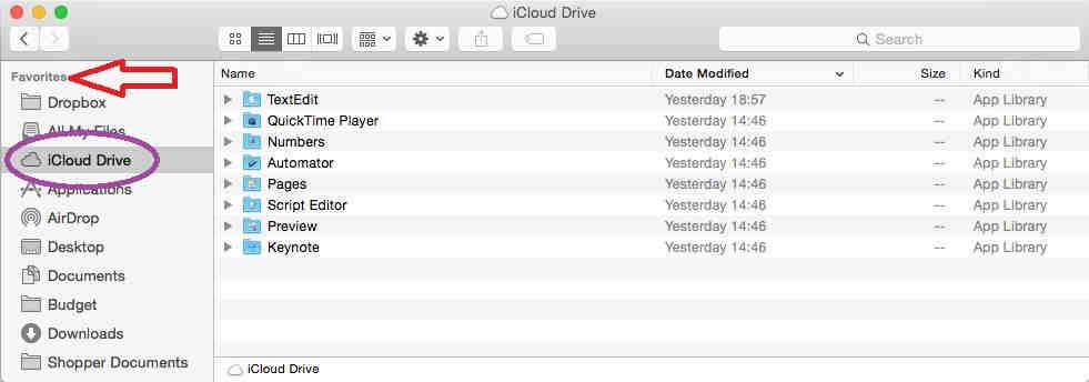 iCloud drive in sidebar - iCloud Drive in OS X Yosemite using finder