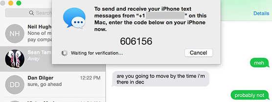six digit passcode On Mac screen to make pair between mac and iPhone