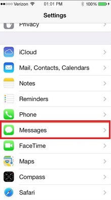 Turn off iMessage after going inside in message app