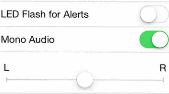 how to turn on Mono Audio on iPhone