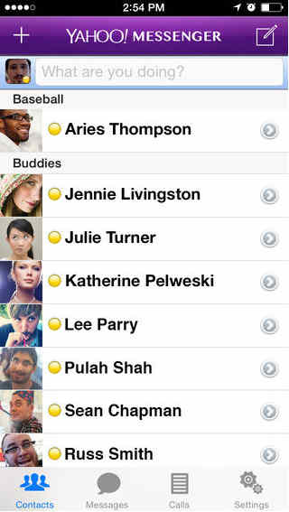 Yahoo video calling app for iPhone and ipad.