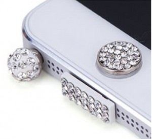 Diamond look iPhone Home button Stickers
