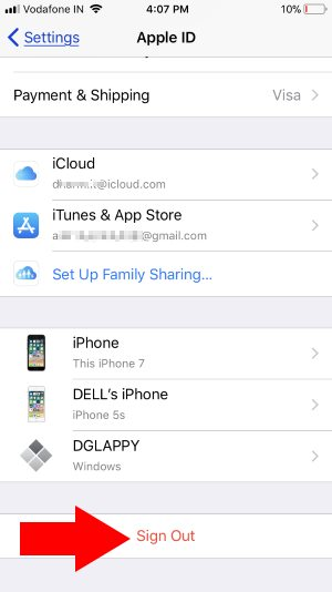 3 Sign out and Sign in icloud with different apple ID On iPhone