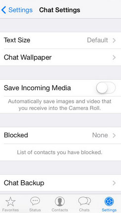 Blocked option under the WhatsApp setting