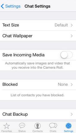 Blocked option under the WhatsApp setting