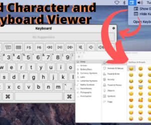 Add Character and Keyboard Viewer on Mac Top Menu
