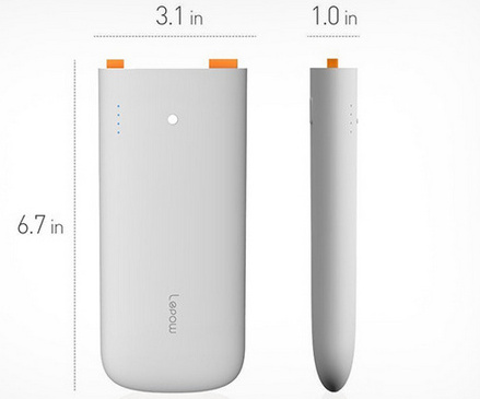 Light weight portable battery charger