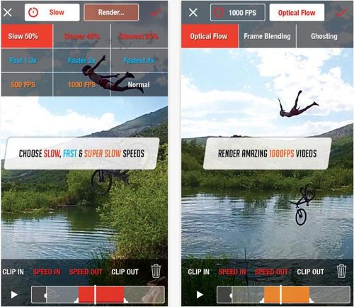 Choose fps rate and control speed of object moment in video shooting