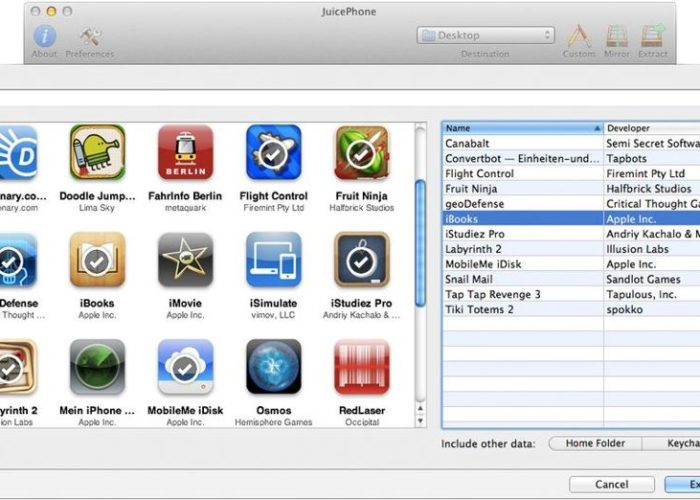 Tap on Apps to Extract iTunes backup taken from iPhone and get it in Mac
