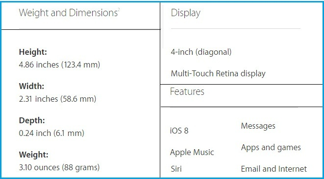 Apple iPod touch 6th generation features 2015