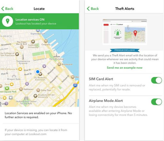 Lookout all time free antivirus for iOS 8 screen