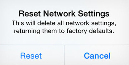 Tips for Reset Network Settings on iOS 8