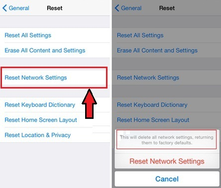 Reset Network Settings on iPhone, iPad or iPod how to
