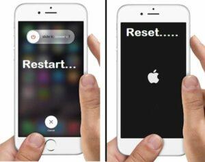 Restart or reset iPhone, Solved iPhone activation error