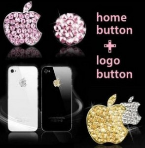 Apple logo stickers and Home button for iPhone and iPad