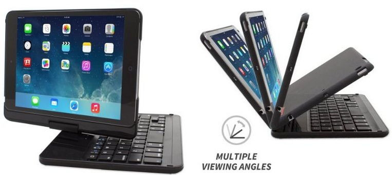 Snugg Best iPad keyboard dock with stand and case