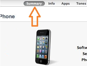 Get summary details on iPhone from iTunes on Mac and PC