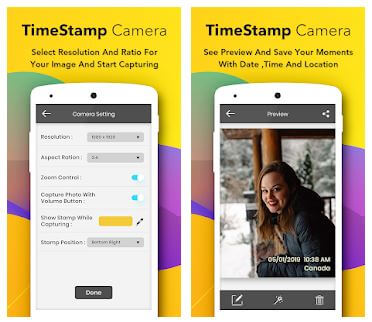 Auto Time Stamp Camera for Android