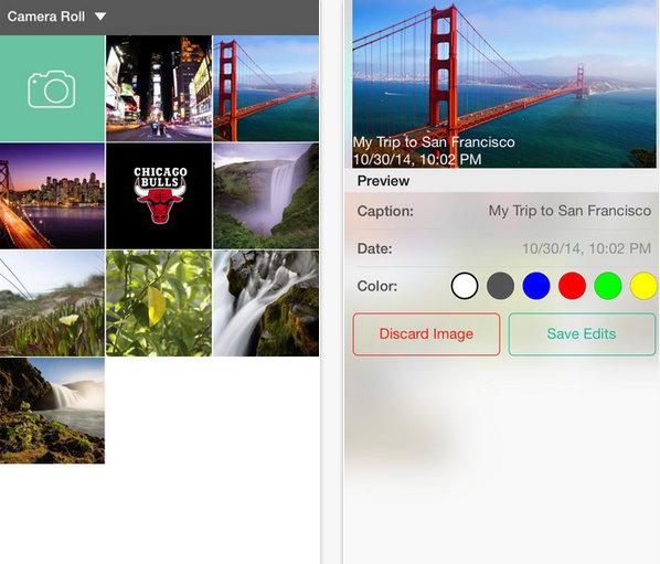 sleek iOS app for Timestamp app for iPhone