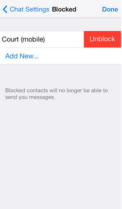 To unblock contacts in WhatsApp Block & unblock WhatsApp contact list