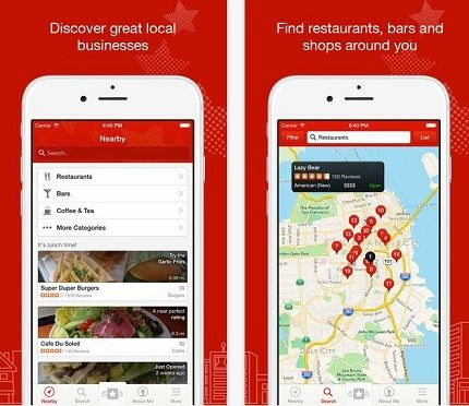 Yelp best tracking apps for iPhone and iPad in your journy