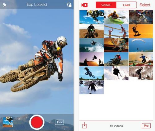 Record live video with slow motion video in iPhone screen also import other