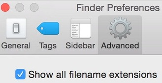 Way for show all hidden file name extension on Mac